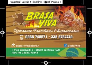 Biglietto visita brasa Viva8,5x5,5cm